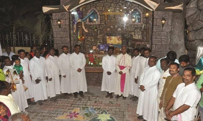 Mass and Blessing of Groto - St Joseph's church, Gnanaolivupuram